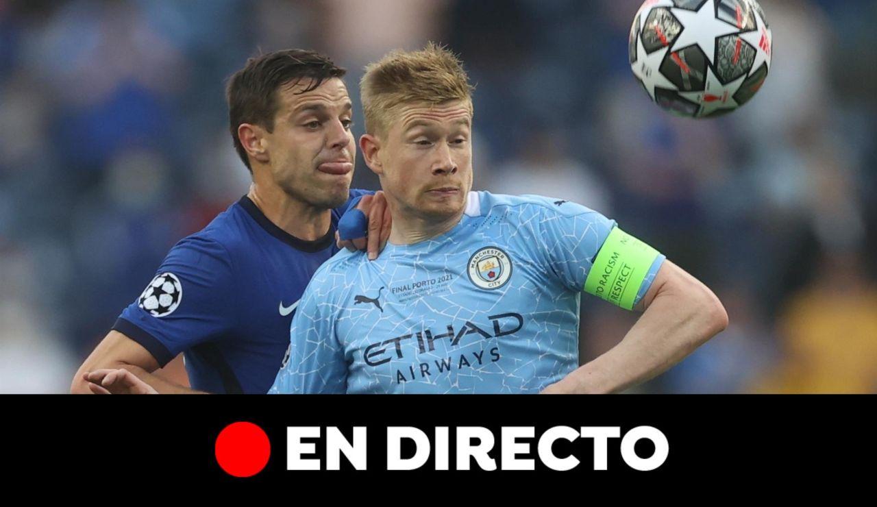 Manchester City - Chelsea: Partido de hoy y resultado de la Champions League, en directo (0-0)
