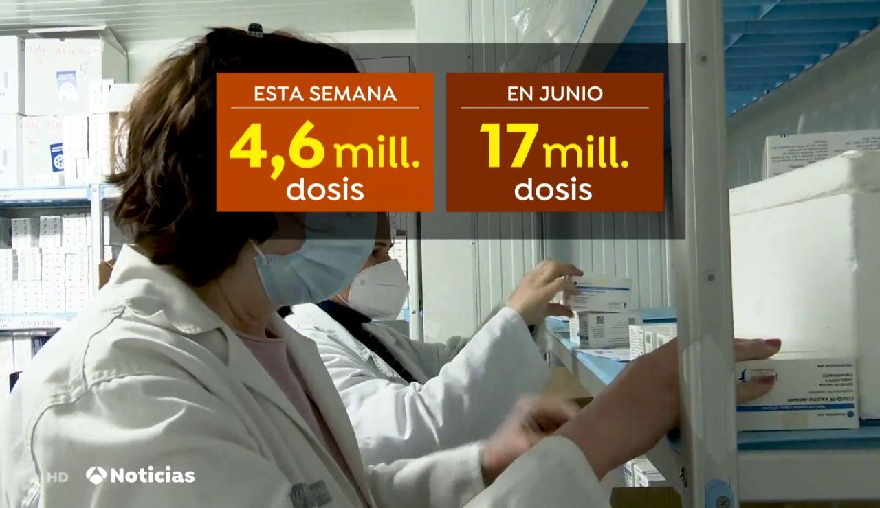 La semana que viene España batirá un nuevo récord de llegada de vacunas