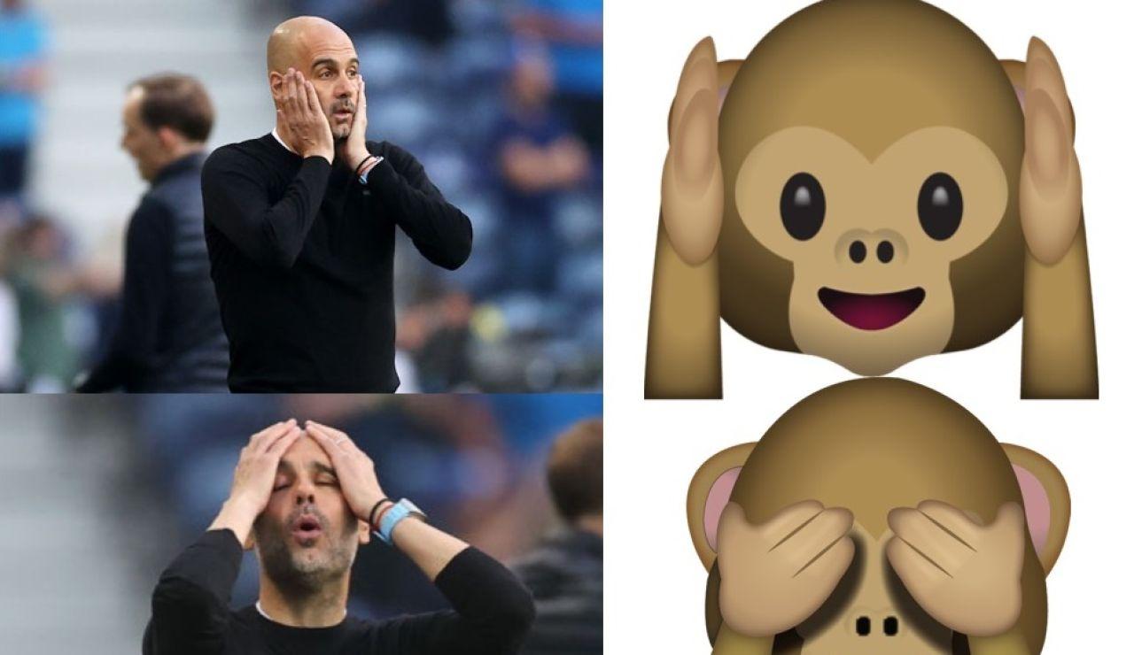 Guardiola, protagonista de los mejores memes tras la derrota del Manchester City en la final de Champions League