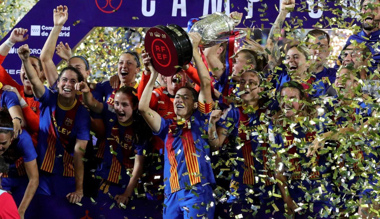 El Barça femenino logra el triple tras ganar la Copa del Reina al Levante