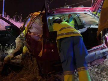 Imagen de uno de los coches implicados en un accidente en Madrid