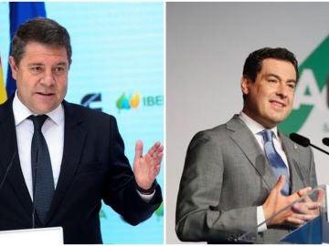 Emiliano García Page y Juanma Moreno