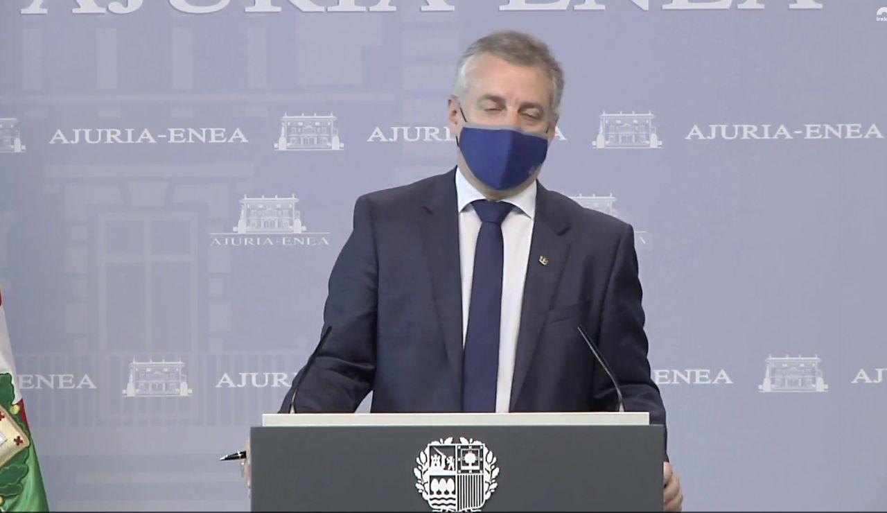 Iñigo Urkullu anuncia nuevas restricciones en el País Vasco, vídeo íntegro