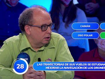 Javier, un auténtico 'animal' en 'Una de Cuatro'