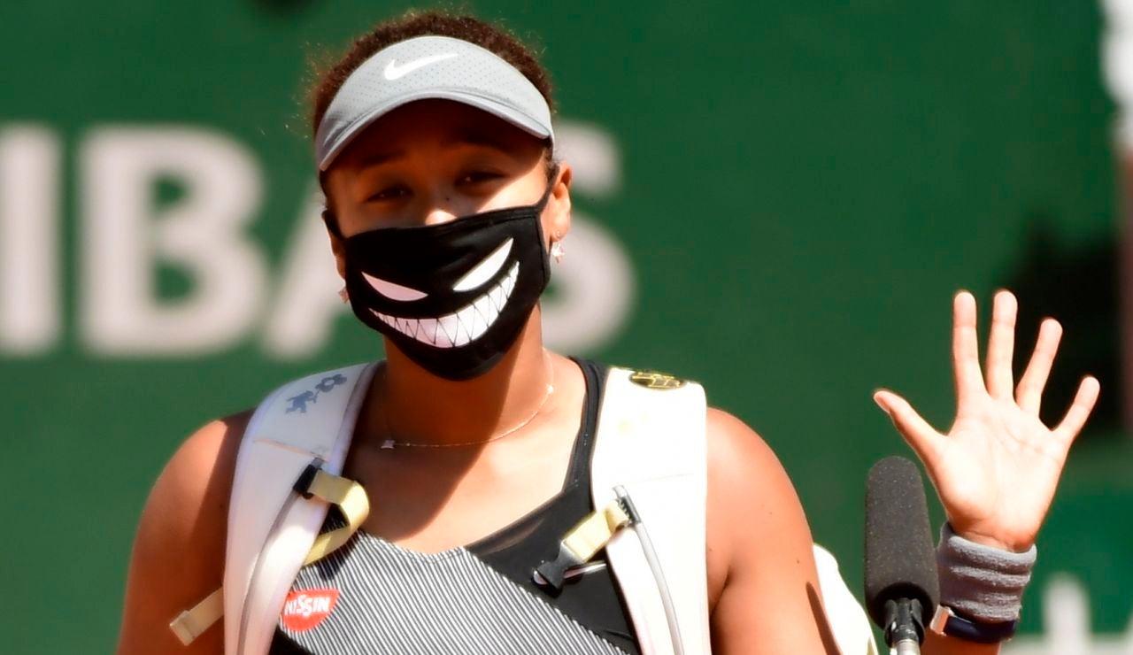Naomi Osaka, antes de un partido en Roland Garros