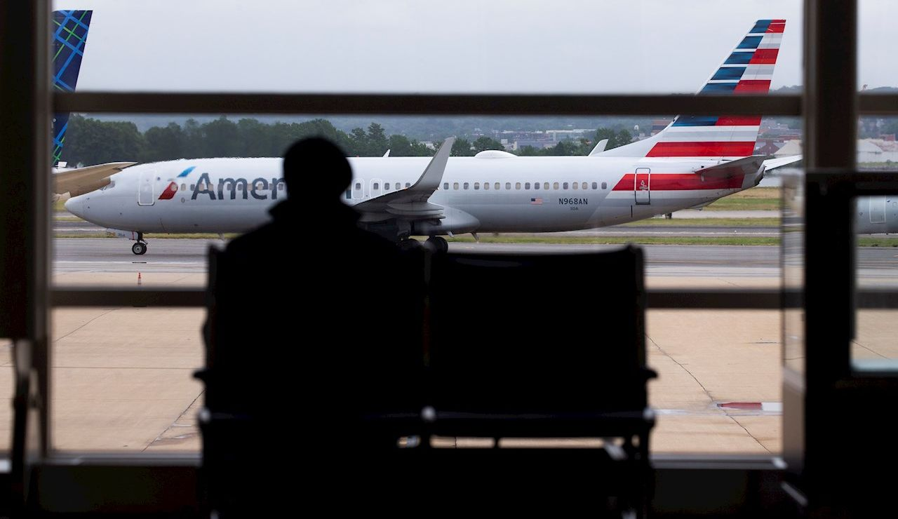 Un avión de la compañía American Airlines