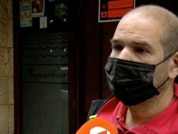 Rubén se dedica a la obra después de cerrar su bar