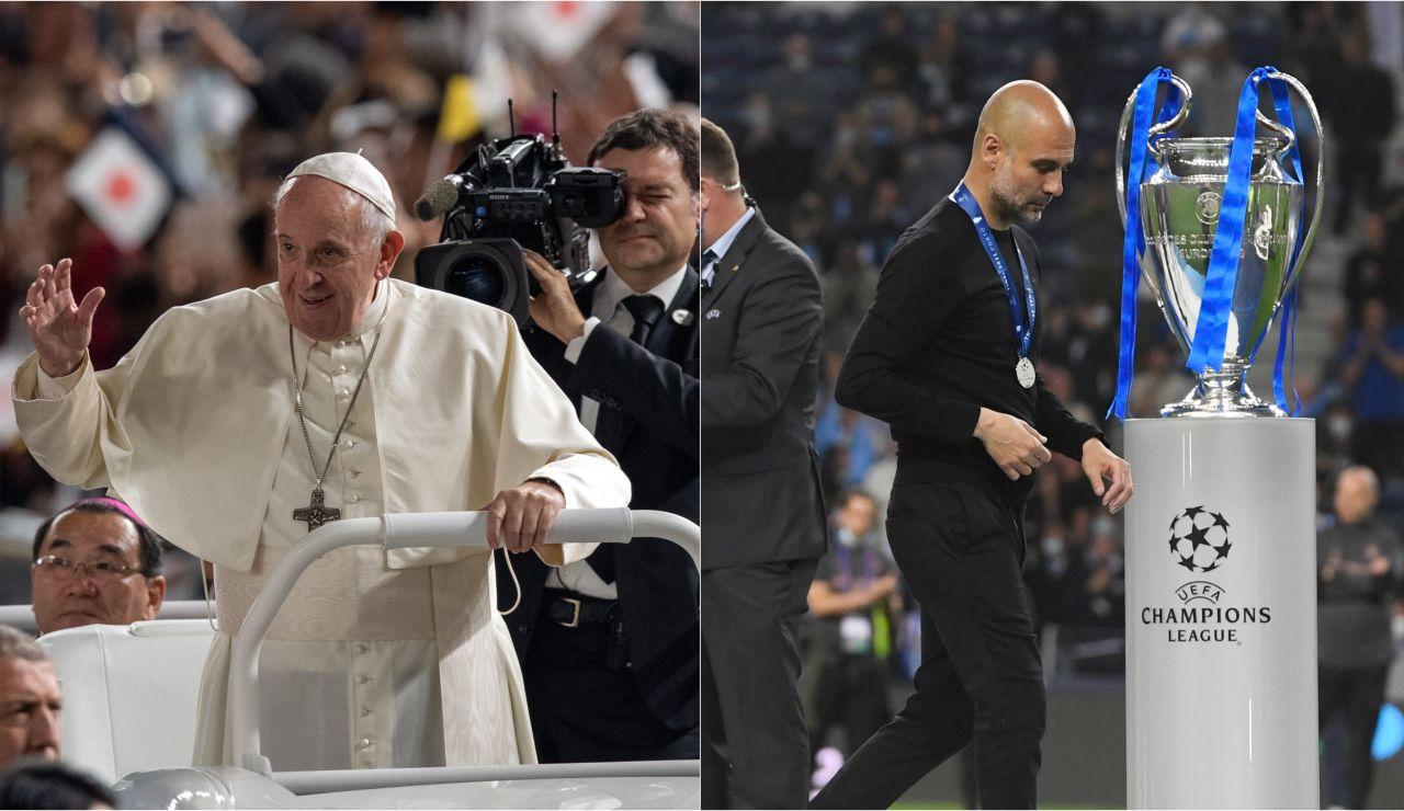 El elogio del papa Francisco a Guardiola tras perder la final de la Champions League