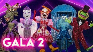 Las cinco máscaras de la gala 2 de 'Mask Singer'