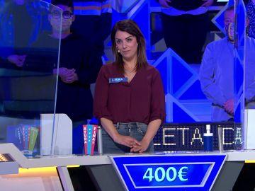 ¡Brutal! Dos tiradas dan el bote a Laura en 'La ruleta de la suerte'