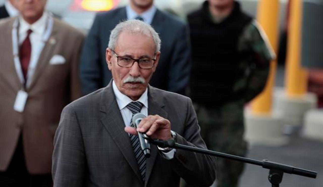 Imagen de archivo del líder del Frente Polisario, Brahim Gali