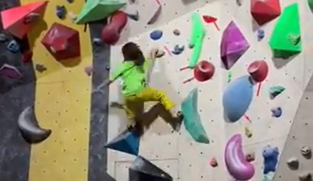 Chen Haitong, la escaladora china de 8 años que ya asombra al mundo de la escalada
