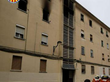 Incendio en Algemesí