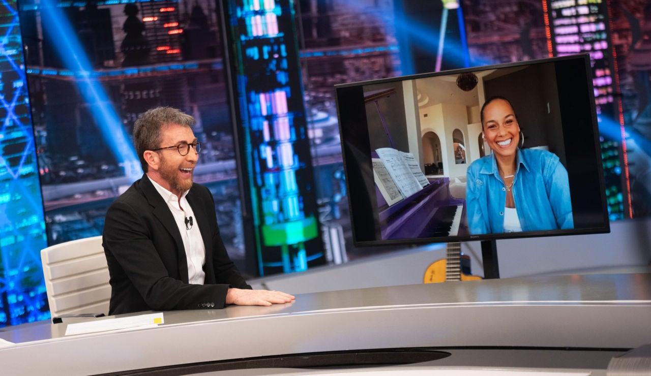 Alicia Keys cuenta en 'El Hormiguero 3.0' los secretos de su cena con Bono y Barack Obama