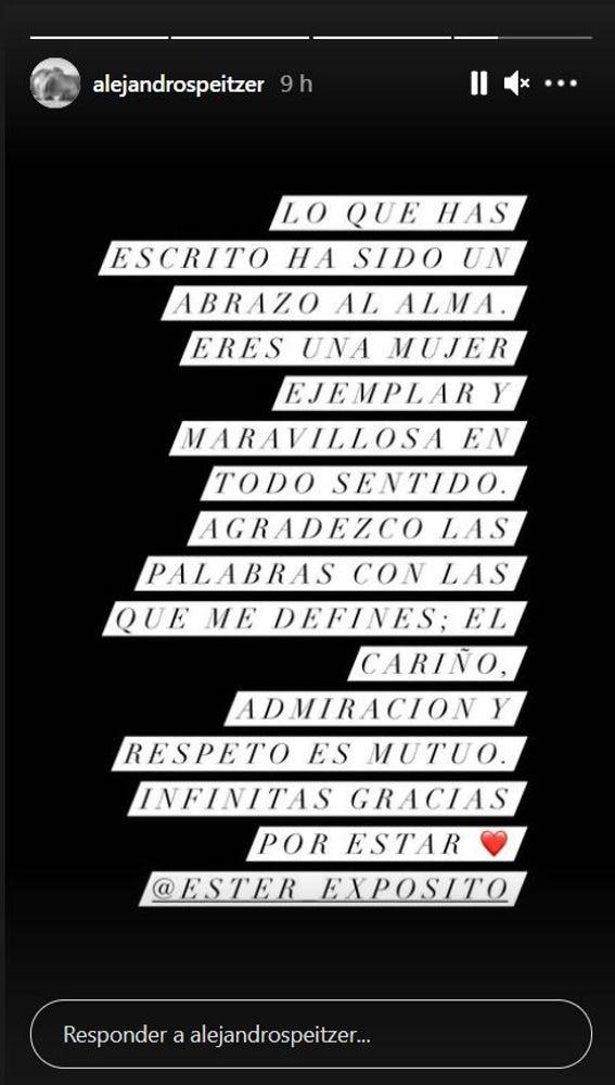 El mensaje de Alejandro Speitzer
