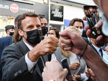 El presidente francés, Emmanuel Macron, este miércoles en Valence