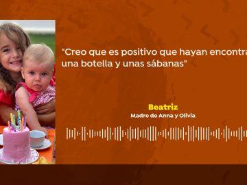 Audio de Beatriz, la madre de Anna y Olivia