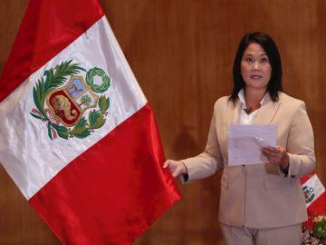En la imagen, la candidata presidencial peruana Keiko Fujimori, del partido Fuerza Popular