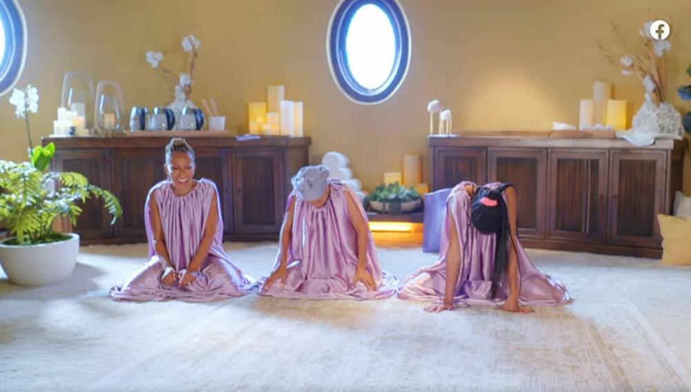 Adrienne, Jada y Willow durante el programa