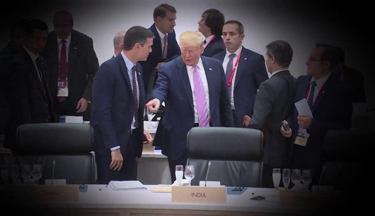 Encuentros de presidentes españoles y estadounidenses: de la cumbre González- Reagan al 'feo' gesto de Trump a Sánchez