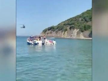 Persecución en una playa de Algeciras
