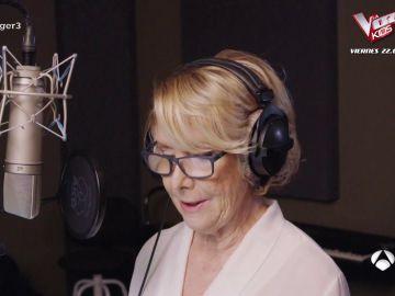 Yo tiraría este vídeo por La canción que Esperanza Aguirre grabó y no saldrá en Mask Singer