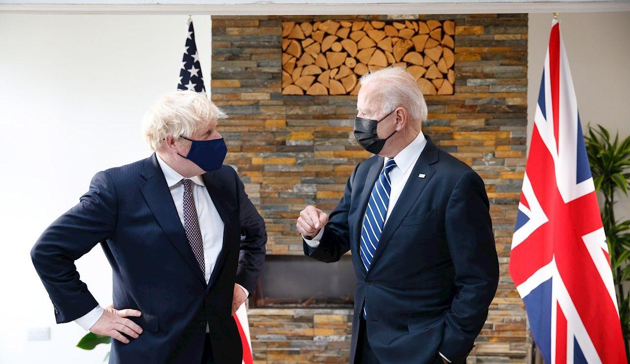 El primer ministro británico, Boris Johnson, y el presidente de EEUU, Joe Biden
