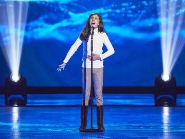 Marta Fernández canta 'When I was your man' en las Audiciones a ciegas de 'La Voz Kids'