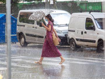 Fuertes lluvias acompañadas de granizo