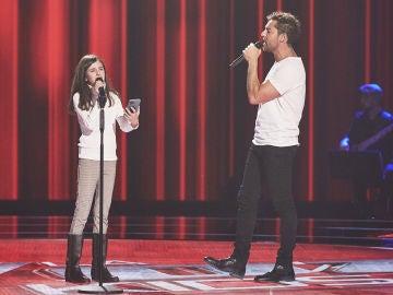 David Bisbal canta 'Dígale' con Marta Fernández en las Audiciones a ciegas de 'La Voz Kids'