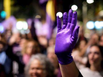 Manifestación con motivo del Día Internacional contra la Violencia Machista
