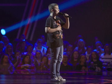 Santiago Padilla canta 'Suo gan' en las Audiciones a ciegas de 'La Voz Kids'