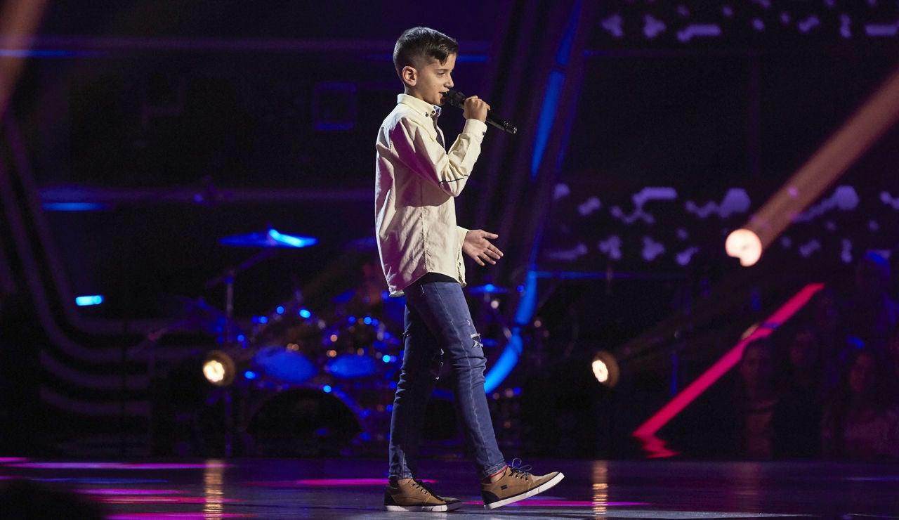 Elieser Betancort canta 'Mi princesa' en las Audiciones a ciegas de 'La Voz Kids'