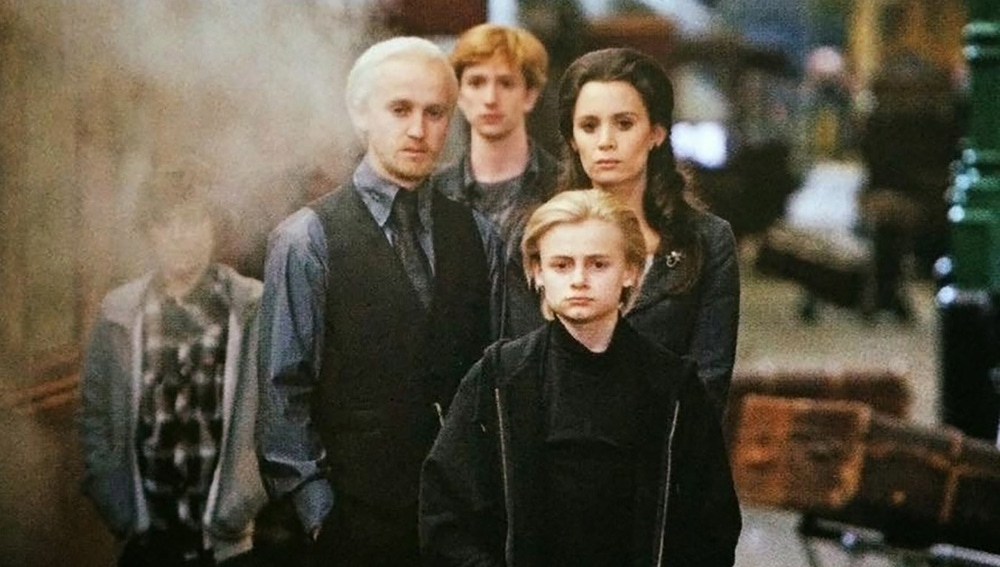 La familia Malfoy al final de 'Harry Potter'