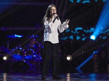 Candela Camacho canta 'Defying gravity' en las Audiciones a ciegas de 'La Voz Kids'