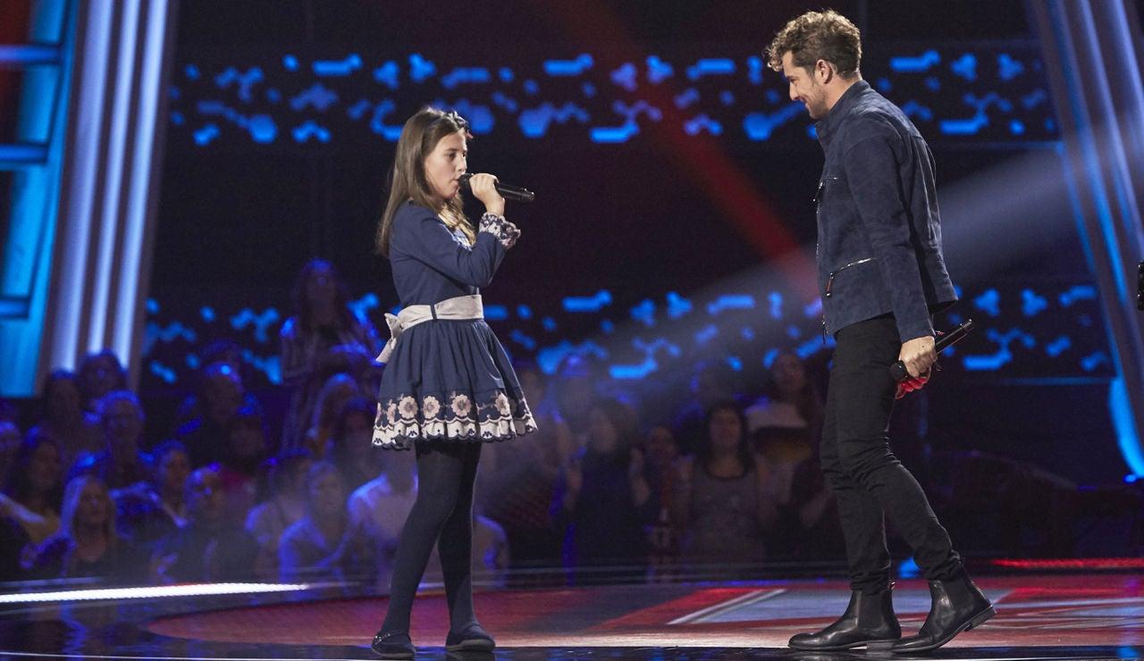 David Bisbal canta 'Perdón' con Cayetana Rollán con las Audiciones a ciegas de 'La Voz Kids'