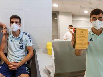 El Ejército vacuna a los integrantes de la selección española en Las Rozas