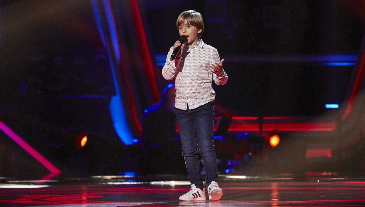 Jesús Montero canta 'Me cuesta tanto olvidarte' en las Audiciones a ciegas de 'La Voz Kids'