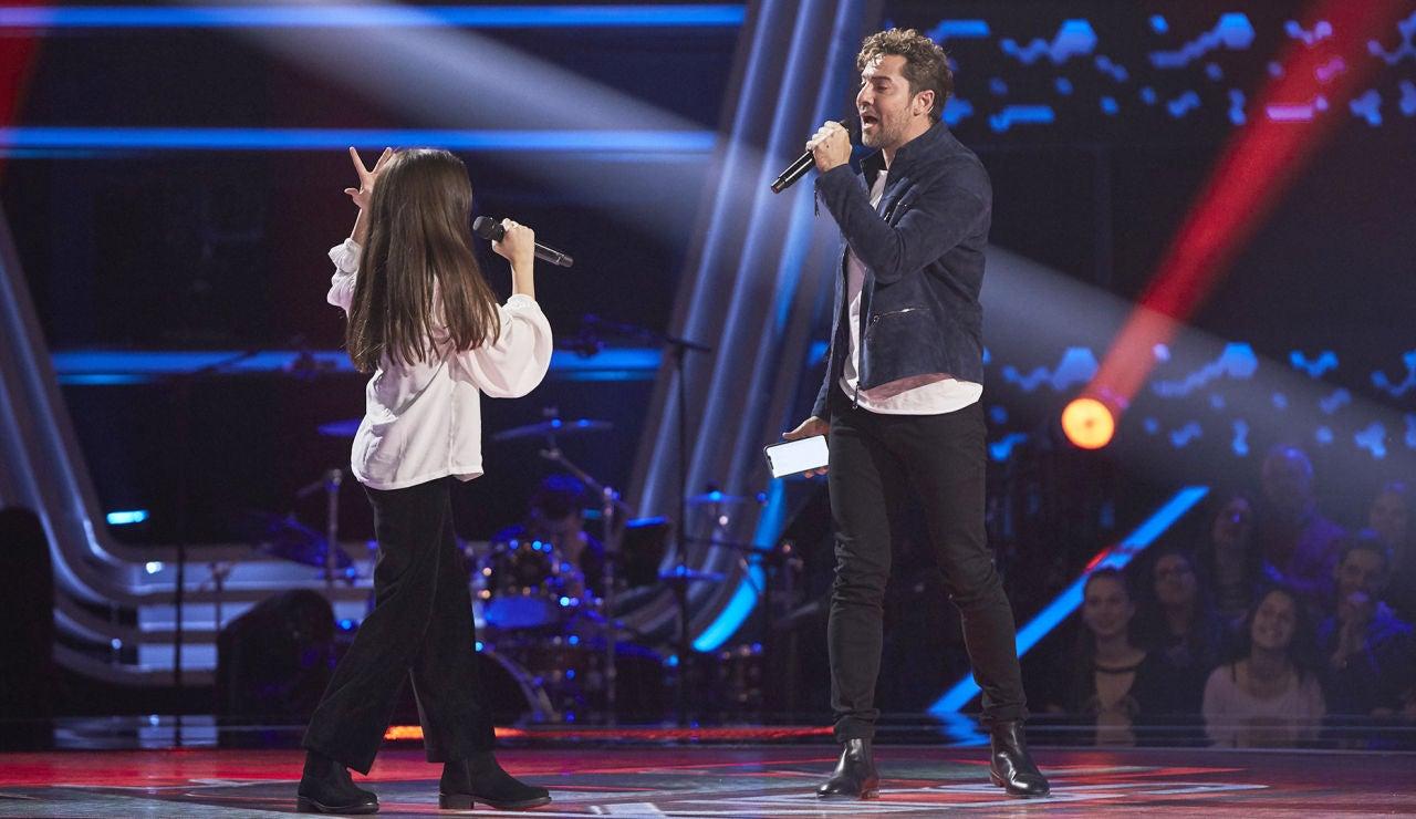 David Bisbal canta 'Todo es posible' con Candela Camacho en las Audiciones a ciegas de 'La Voz Kids'