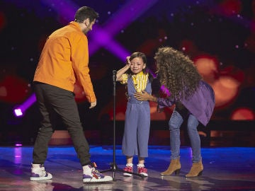 Cahaya Lovisa no termina de cantar 'Heal the world' en las Audiciones a ciegas de 'La Voz Kids' pero consigue pleno de coaches