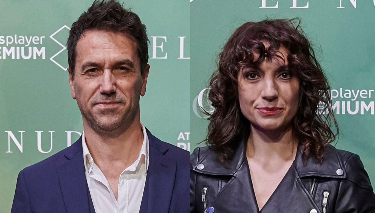 Los actores Oriol Tarrasón y Eva Rufo