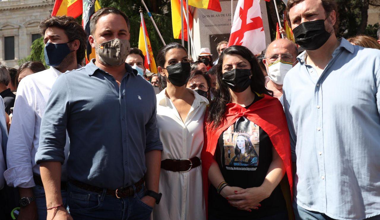 """Santiago Abascal en la manifestación de Colón: """"Los indultos son una traición"""""""