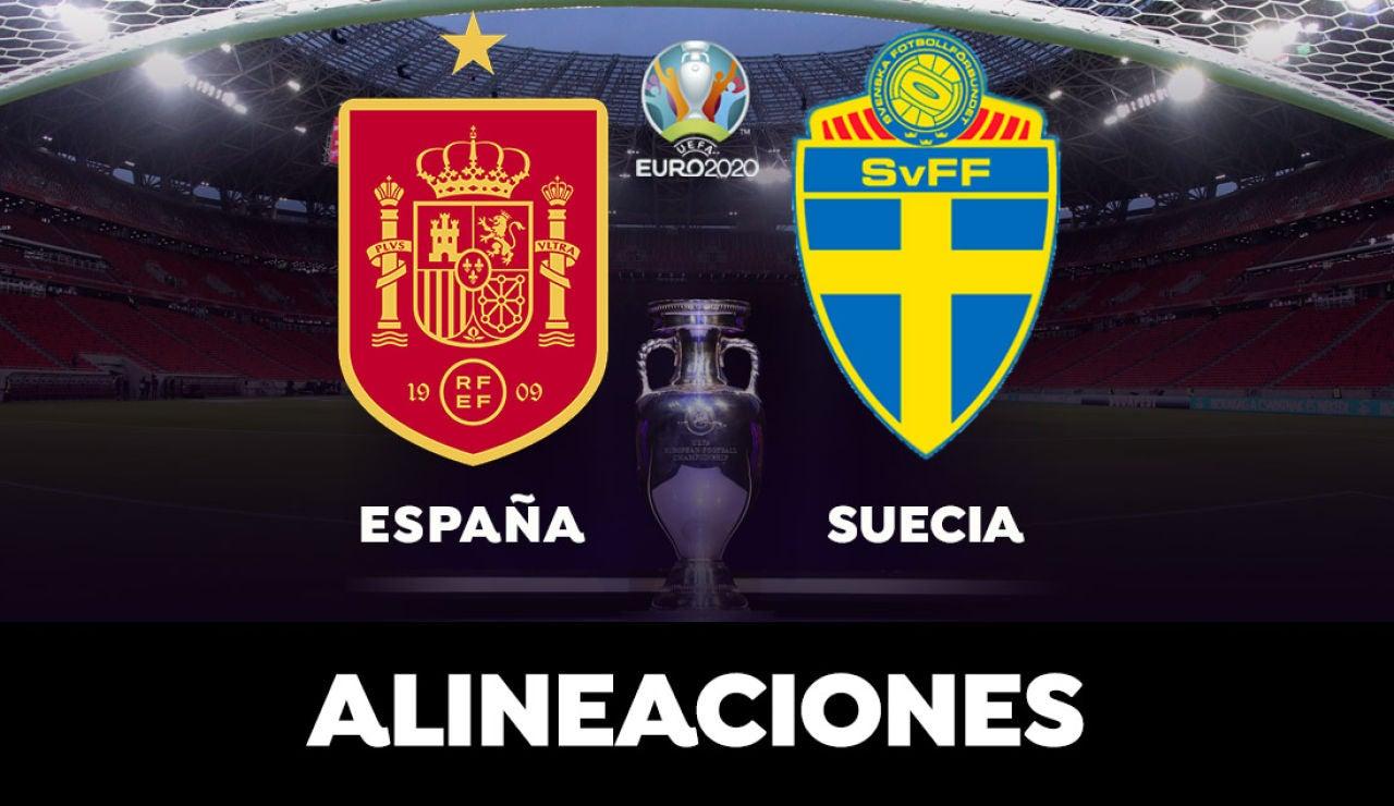 Alineaciones del España - Suecia de la Eurocopa 2021