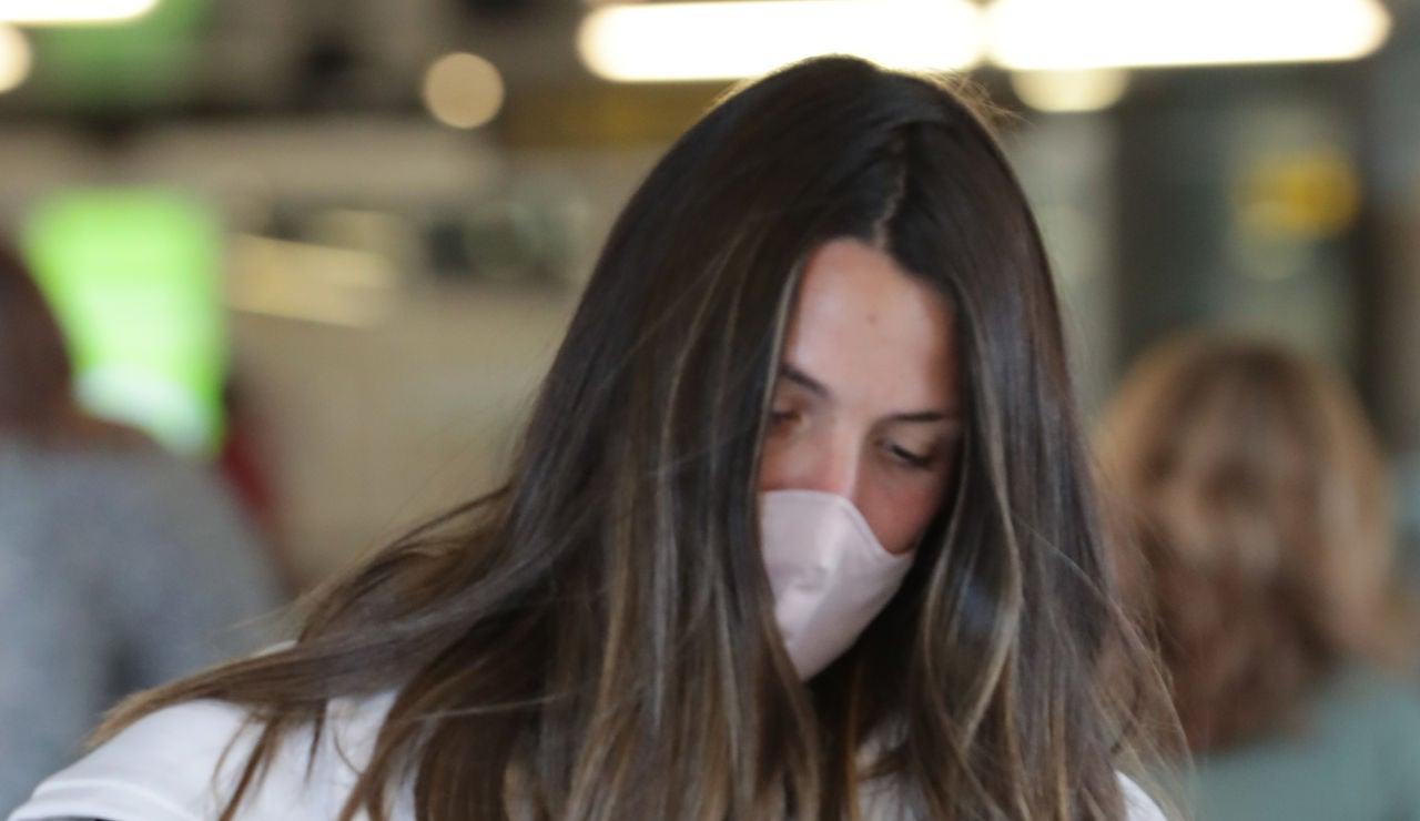Laura Matamoros, fotografiada en el aeropuerto