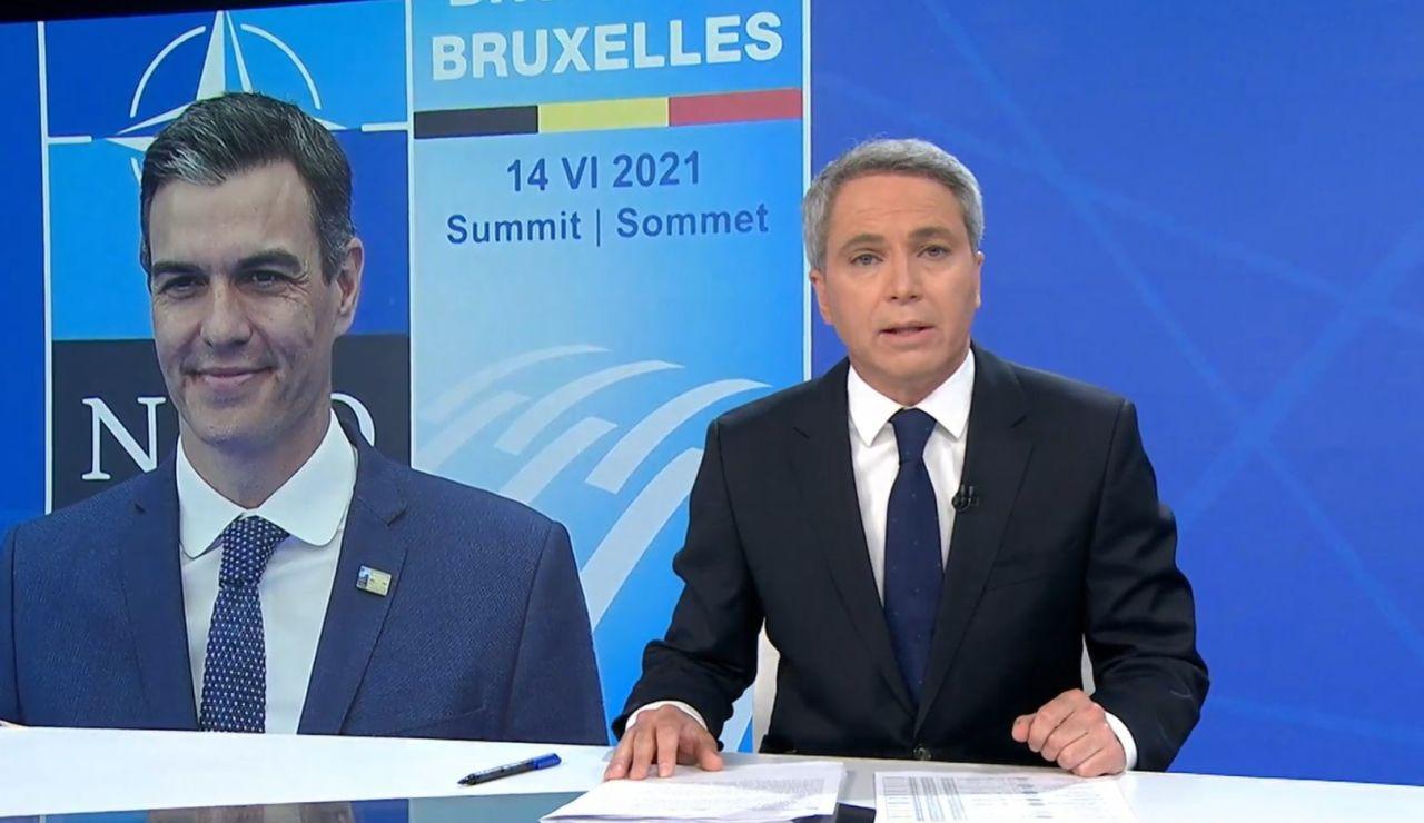 El presentador Vicente Vallés