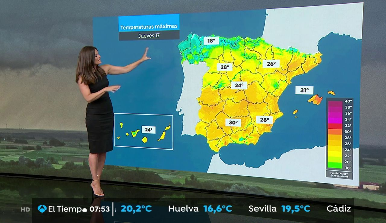 La previsión del tiempo hoy: Temperaturas significativamente altas en el sur de Galicia y área mediterránea