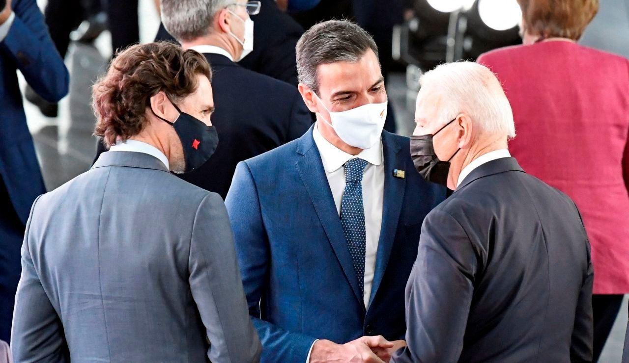 Encuentro entre Pedro Sánchez y Joe Biden en la cumbre de líderes de la OTAN