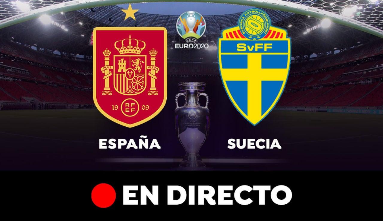España - Suecia: partido de hoy de la Eurocopa, en directo