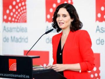 Presidenta de la CAM, Isabel Díaz Ayuso