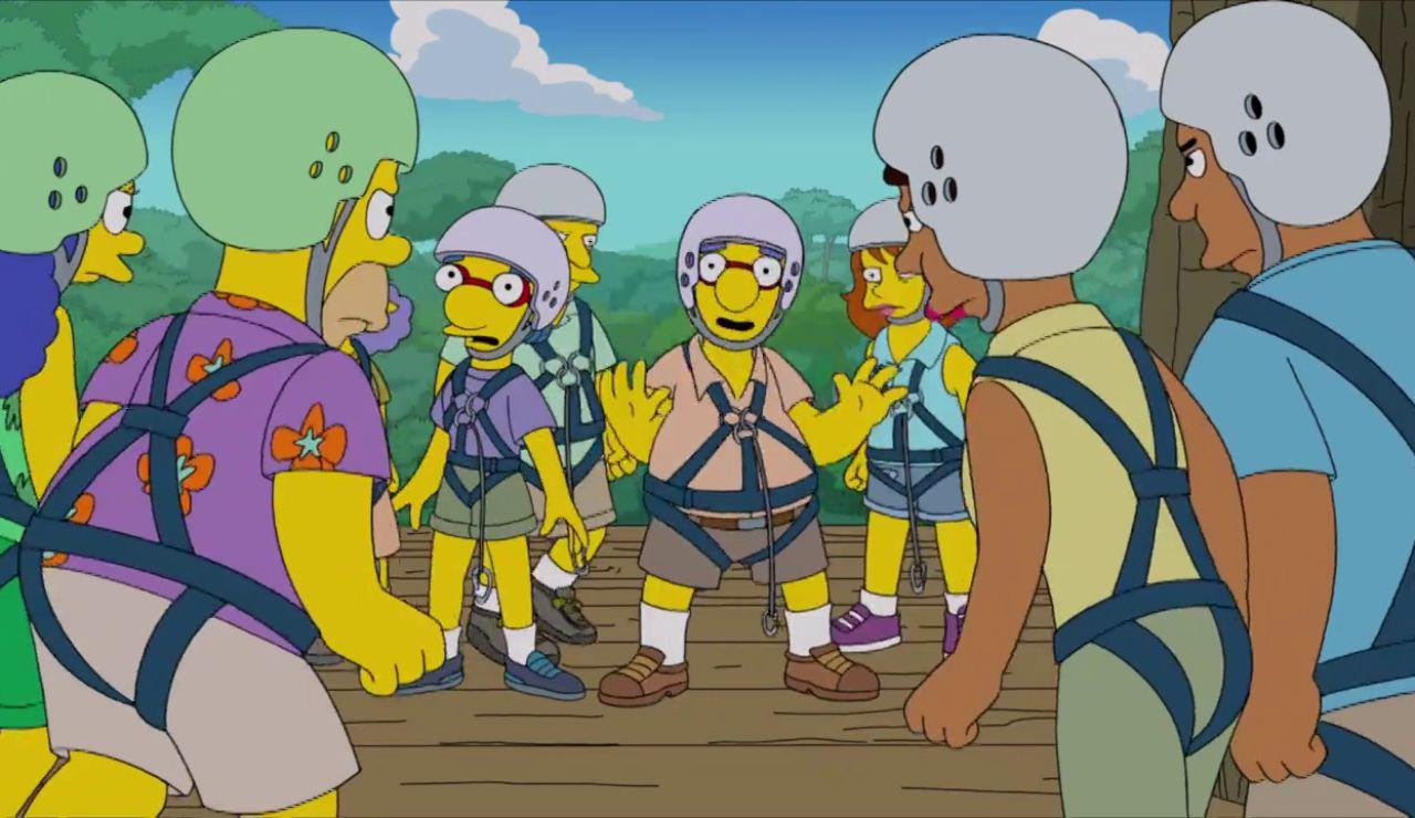 Los Simpson, estafados por los Van Houten en su viaje a Costa Rica